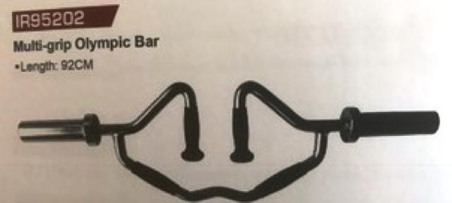 Multi grip Olympic bar IR95202