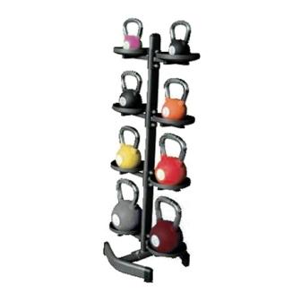 Rack verticale porta kettlebell / palle mediche  (8 posti) RPK-8