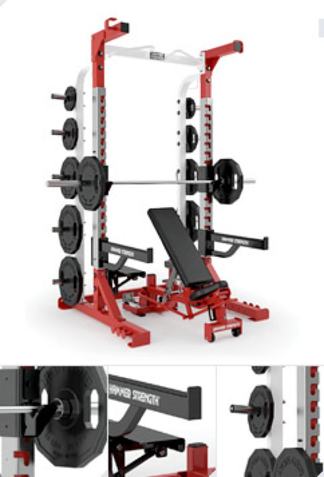 Olimpic Half Rack OHDHR Life Fitness Hammer Strength Olympic